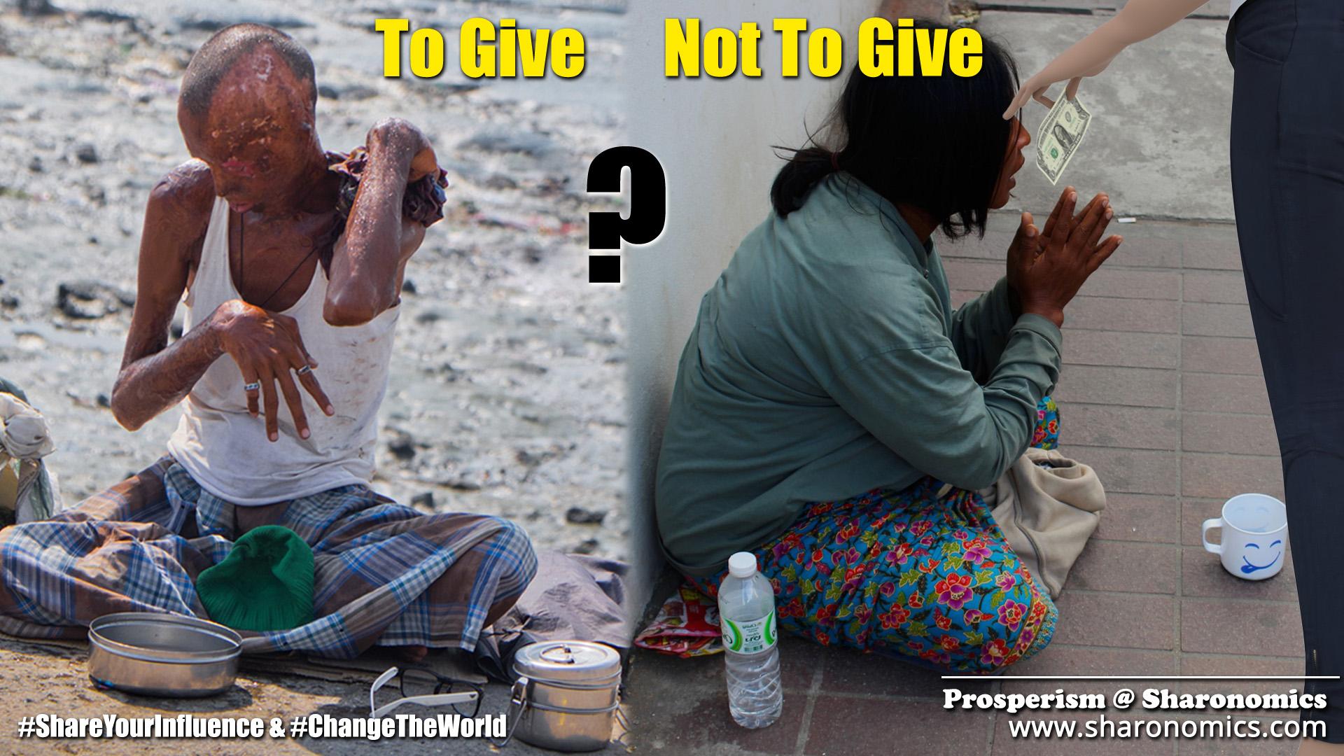 sharonomics, algoshare, prosperism, autonio, poverty, charity, #shareyourinfluence, #changetheworld, give, not give